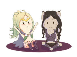 FEA: Nowi and Panne by Lunaoverthecow