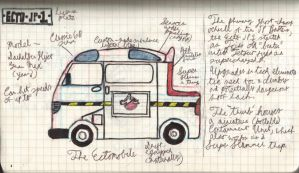 Ghostbusters Japan: The Ectomobile by SharazDestler