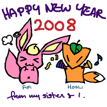 New Year 2008 Oekaki by hoolijing
