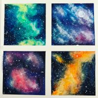 Watercolour Galaxies by Thanatasia666