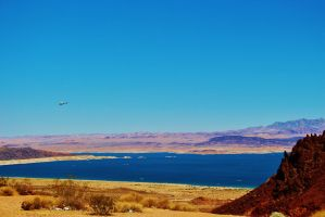 Lake Mead Fly Over by AthenaIce