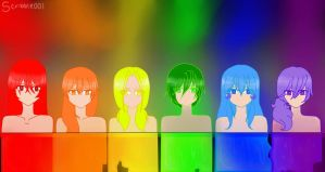 Rainbow Girls by Scribbles001