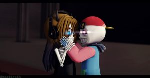 [MMD x Undertale AU x OCs}~Fresh meets demon sweet by sweettooth2220