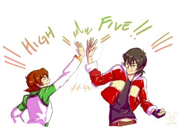 High Five!! Commission for madkatmusings by KP-Lionheart