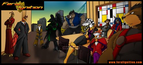 Feral Ignition: Corporate meeting by Giga-Leo