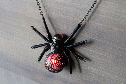 Glowing Spider Pendant by CatherinetteRings