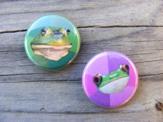 Bachelor and Bachelorette Frog pins by papelshop
