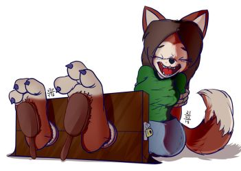 Willow's Ticklish Paws by XPTZStudio