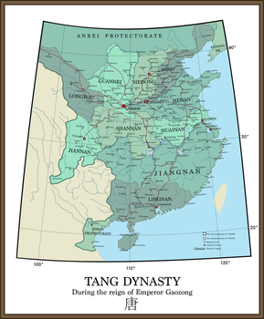 Tang Dynasty at Maximal Extent by HomemadeMaps