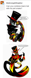 Black Hat Fusion with Little Jack by WhiteFox89