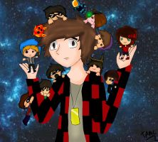 Minecraft YouTubers! *REDRAWN* by ThinkAboutMinecraft