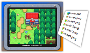 Pokemon Order and Chaos Screen Borders by Rayquaza-dot