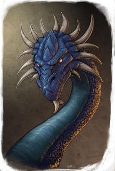 Crowned Dragon by umbrafox