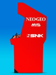 BIG RED Neo Geo Cabinet 3D Model (side) by Arcade-TV