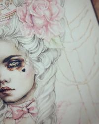 Rococo Dream Coloring Process by EnysGuerrero
