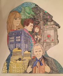 First Doctor - Doctor Who Coloring Book by mkayswritings