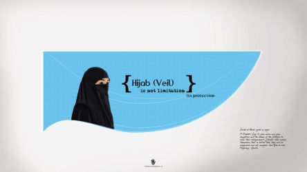 hijab logo by islamicwallpers