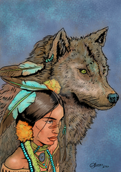 Native-american-drawings Cover by oliveroso