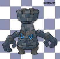 Checkwer black (fakemon) by Charenel