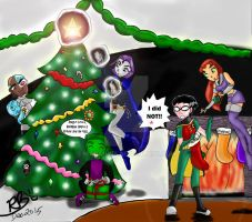 Titans' Christmas by Niarahime