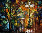 The Loneliness Autumn by Leonid Afremov by Leonidafremov