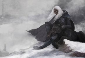 Drizzt by Julaxart