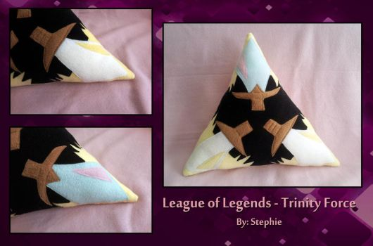 League of Legends - Trinity Force Pillow by ValkyriaCreations