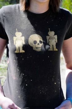 robot skull robot by stephlholley