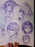 Soul Eater Sketches by Kauritsuo