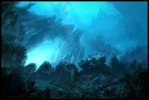 Underwater Matte Painting... by Raphael-Lacoste