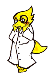 Docter Alphys by Inya-spring