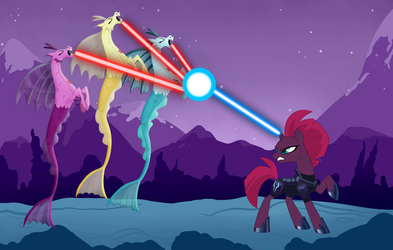 Tempest Shadow vs The Sirens by 3D4D