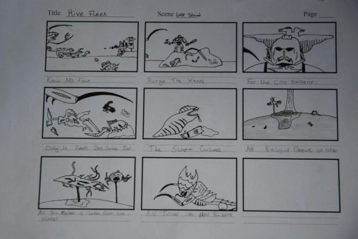 Storyboard work by sarcane