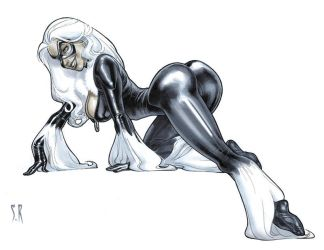 Black Cat Pre Done Commission by StephaneRoux