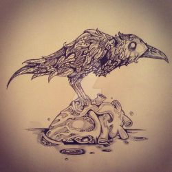 Edgar's Raven by ee-gillespie