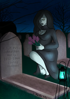The widow mourns by A-Fox-Of-Fiction