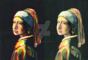 Girl With a Pearl Earring by lycanthropeful