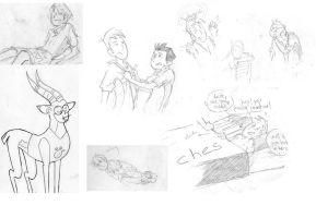 Wild Kratts - various drawings by Z-ZharK-K