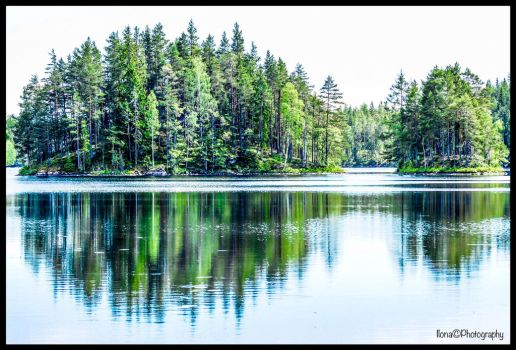 UNDEN LAKE , MIDDLE SWEDEN by IME54-ART-ILONA