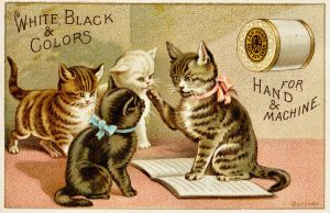 Victorian Advertising - Kitty Class by Yesterdays-Paper