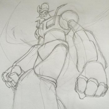 Tranzor Z Sketching by ComicFiction