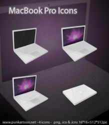 MacBook Pro Mid-2008 Icons by mimipunk