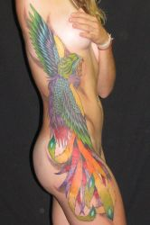 Flying Phoenix by tattooed-zombie