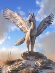 Pegasus The Winged Horse by deskridge