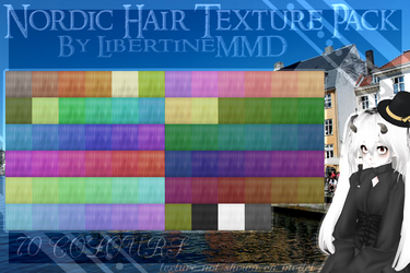 {MMD} Nordic Hair Texture Pack by LibertineMMD