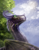 Forest Dragon by zilvart