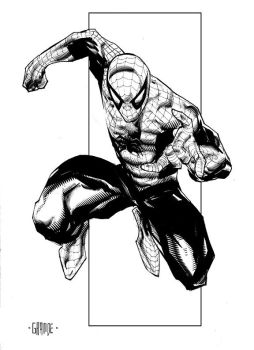 Spider-Man sketch by johnnymorbius
