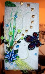 My first work in quilling.... by Fannibellule