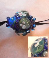 Pond Pods glass pendant by fairyfrog