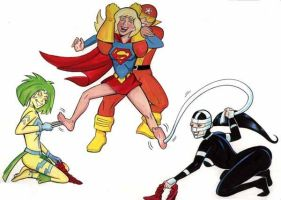 Apokolips on Supergirls soles!!! by ComicTicklingCollect